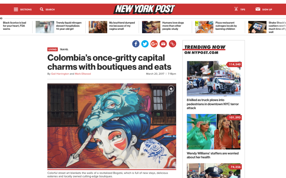 Colombia's once-gritty capital charms with boutiques and eats – New York Post