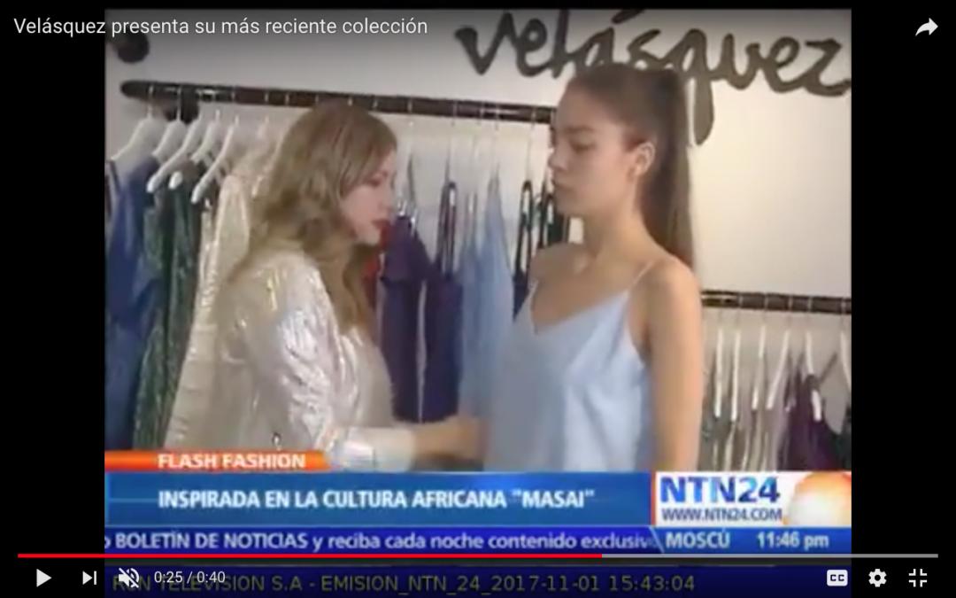 Velásquez presenta su más reciente colección, NTN Noticias