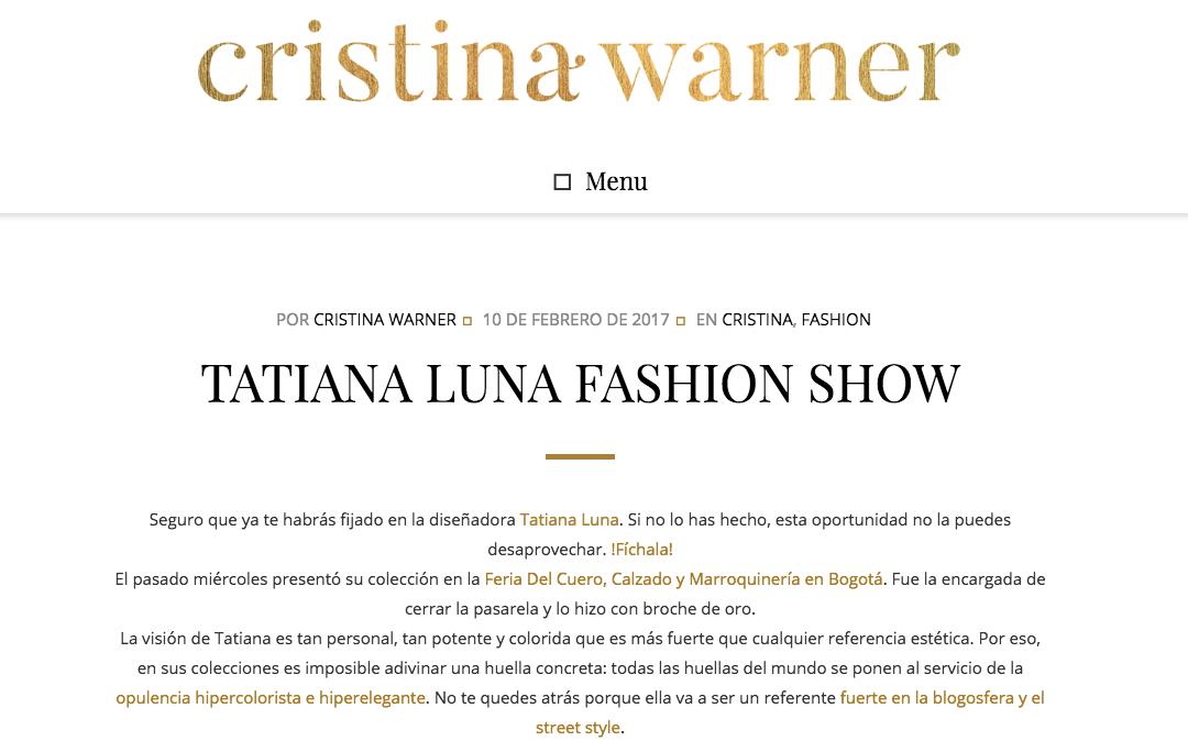 TATIANA LUNA FASHION SHOW-Cristina Warner