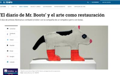 El diario de Mr. Boots' y el arte como restauración. www.eltiempo.com