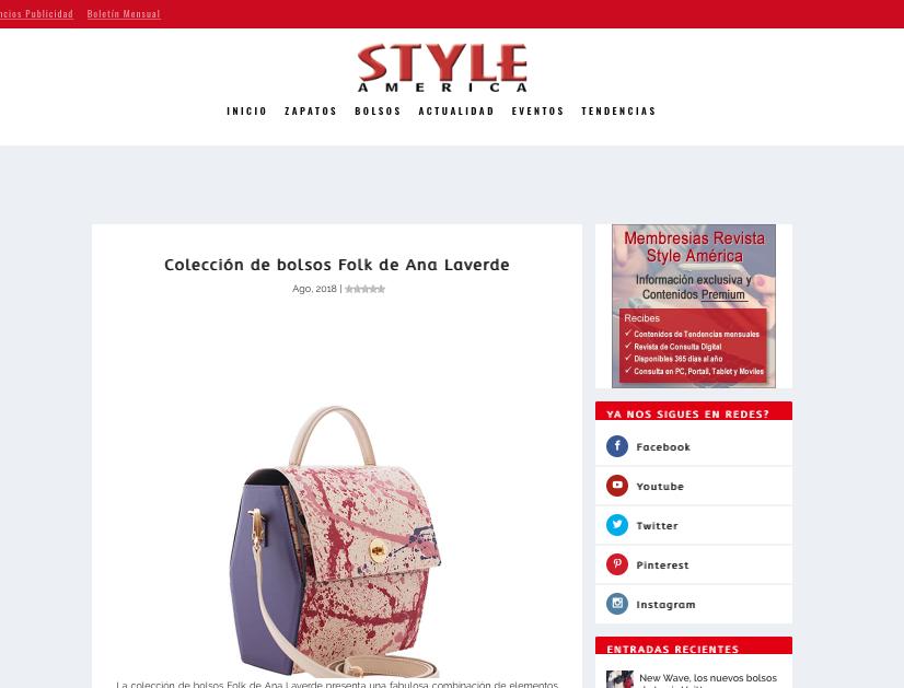 Colección de bolsos folk de Ana Laverde