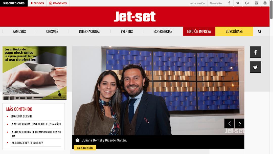 Exposición: Geometría de Papel, www.jetset.com.co