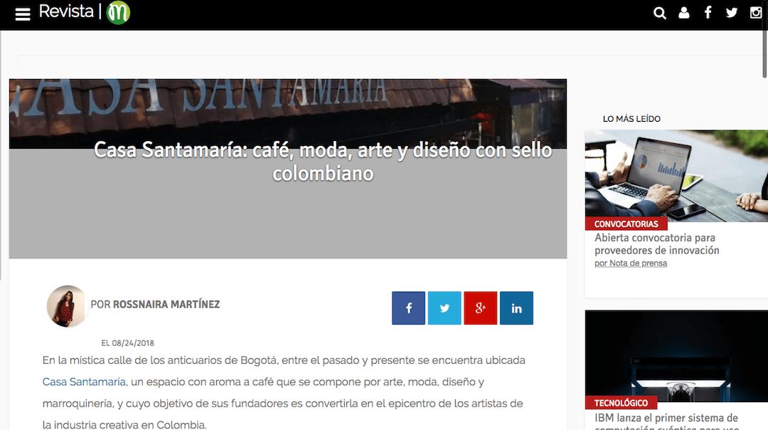 Casa Santamaría: café, moda, arte y diseño con sello colombiano, www.mprende.co